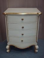 Louis Four Drawer Bedside in Mahogany